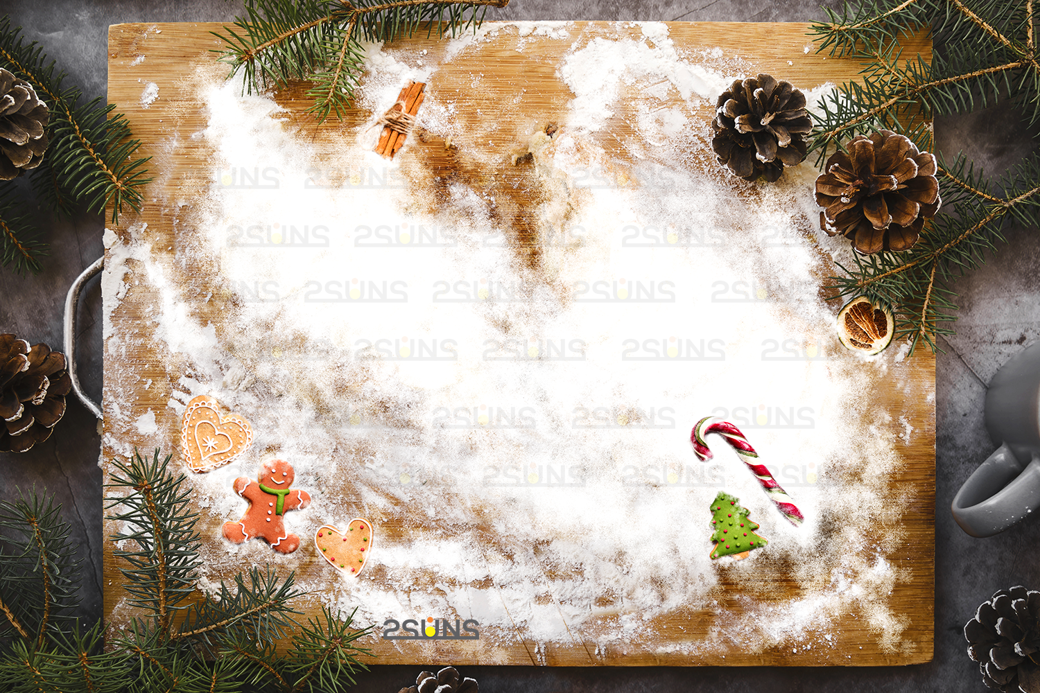 Christmas Digital Backdrop Flour Snow Angel Background By 2suns