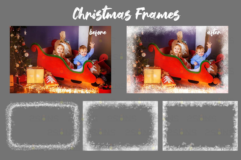 Christmas Digital Backdrop Snow Globe Photo Overlay By 2suns