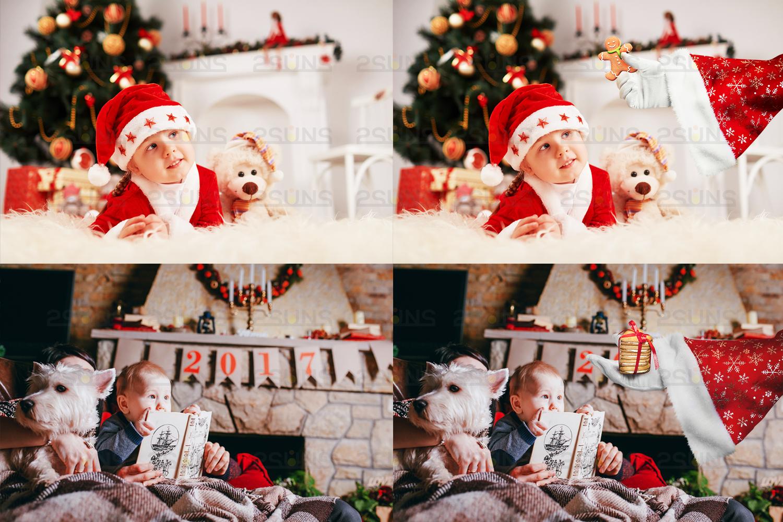 41 Santa Hand Photo Overlay Photoshop Overlay Christmas Clipart