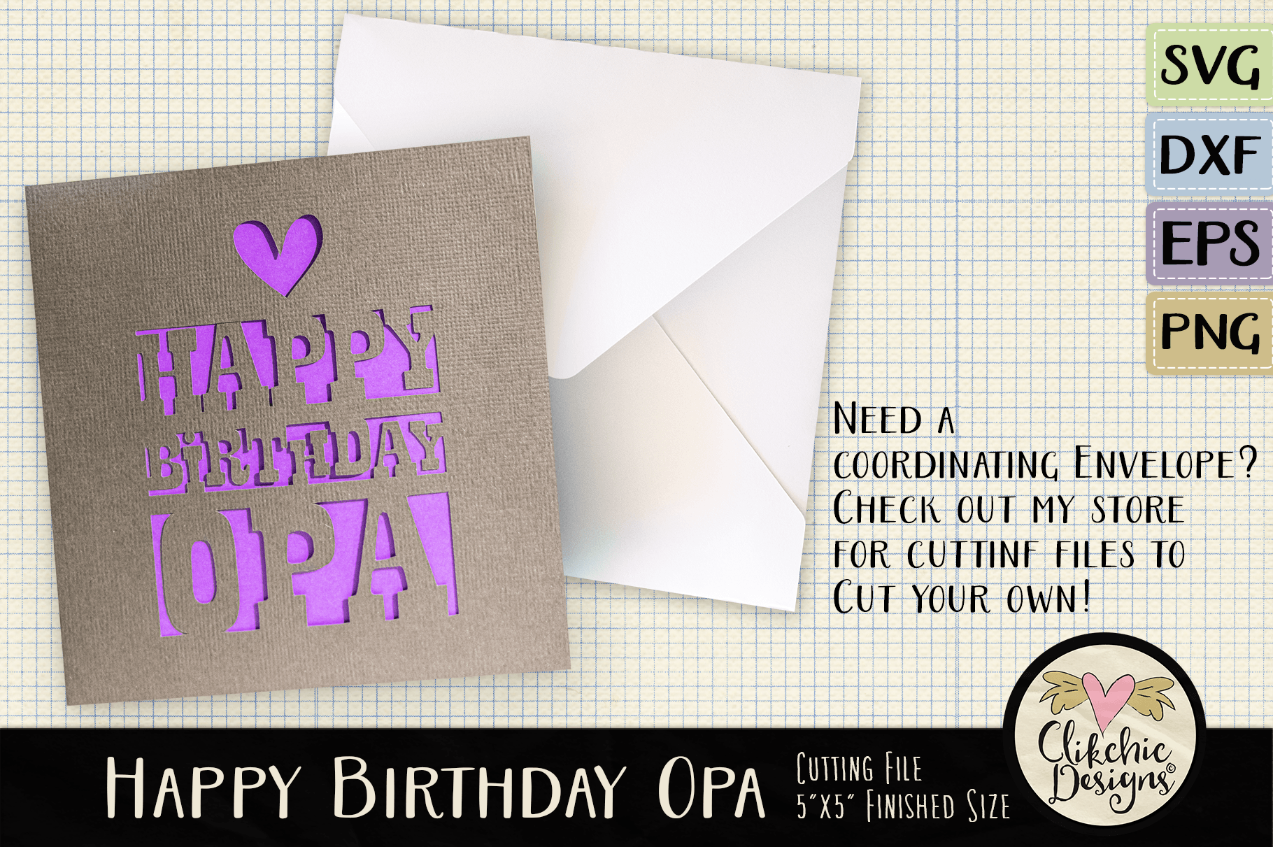 File Check Out Card happy birthday opa card svg cutting fileclikchic designs