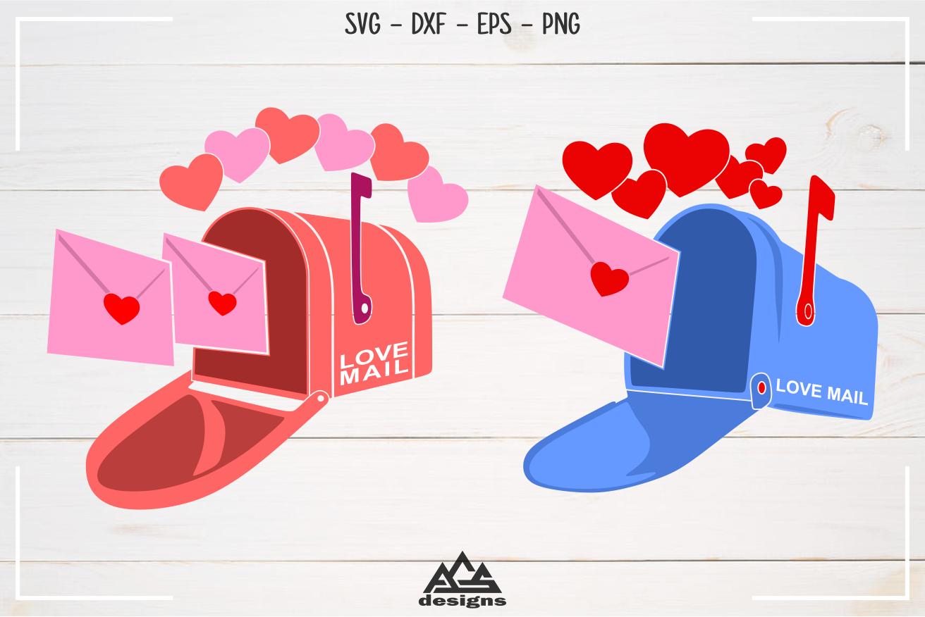 Valentine Mail Box Love Heart Svg Design By Agsdesign