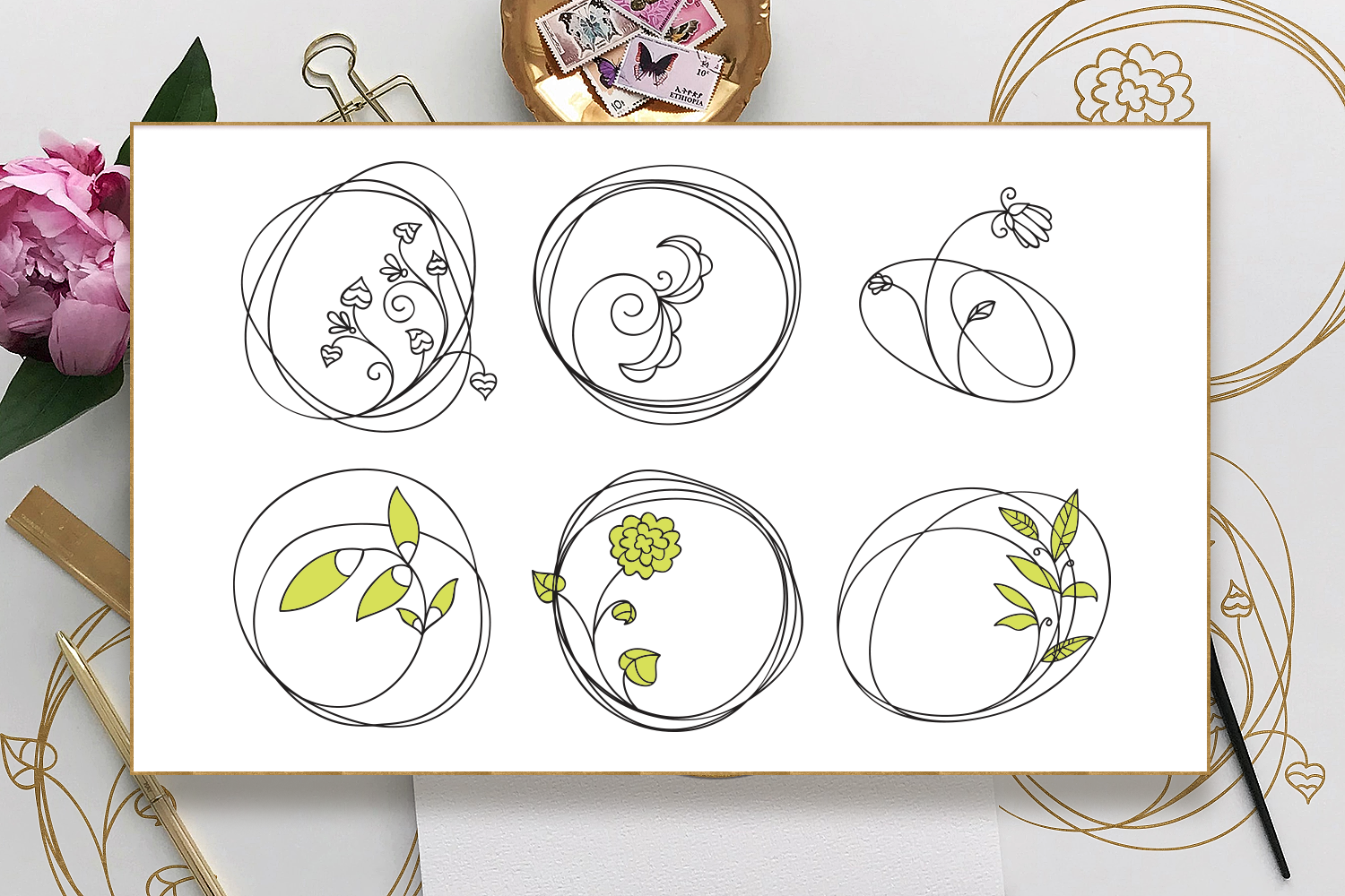 Foil Quill Floral Svg Files Pack With 21 Cut Files By Craft N Cuts