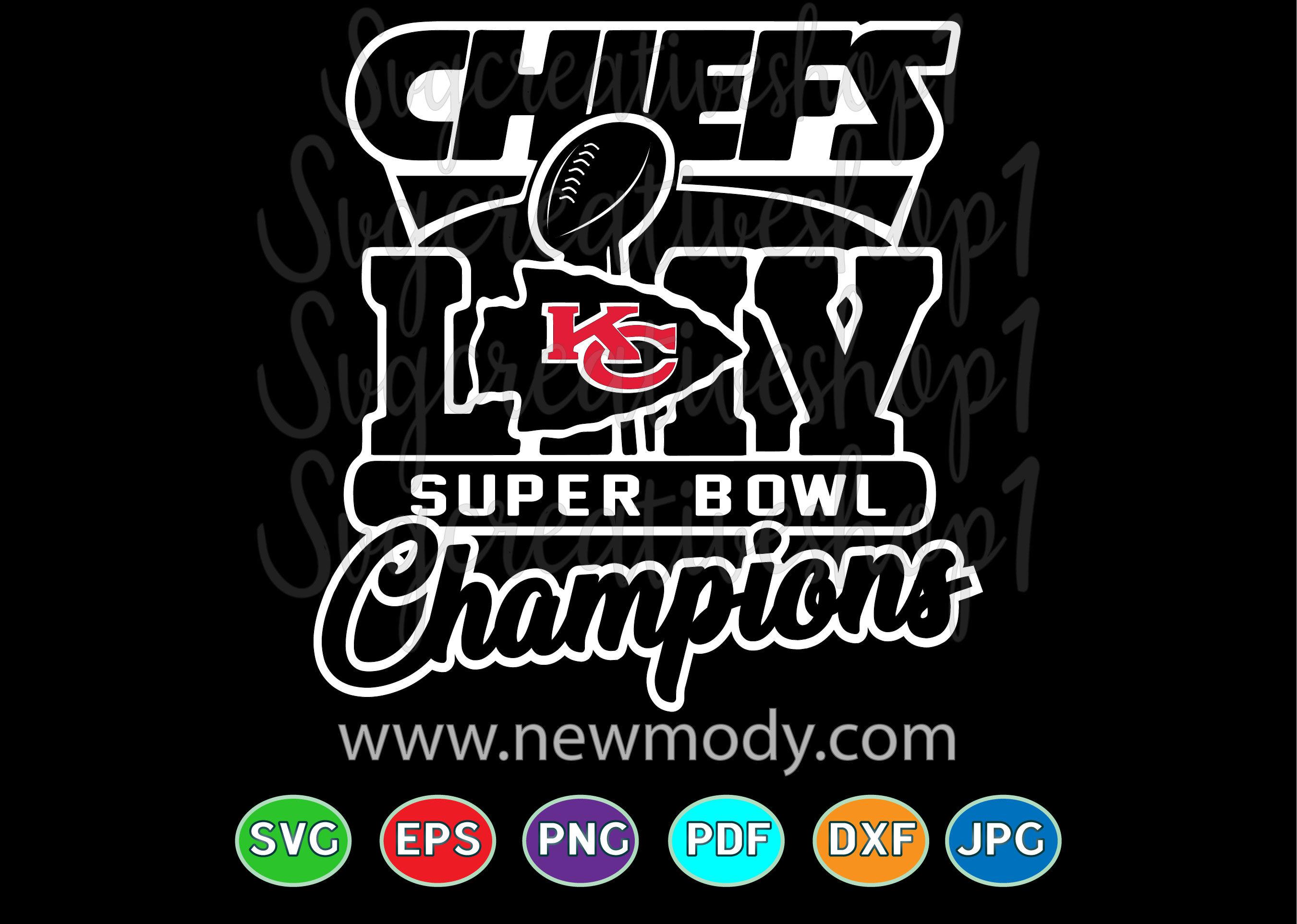 Super Bowl Svg Chiefs Super Bowl 54 Liv Champions Svg By Amittaart Thehungryjpeg Com