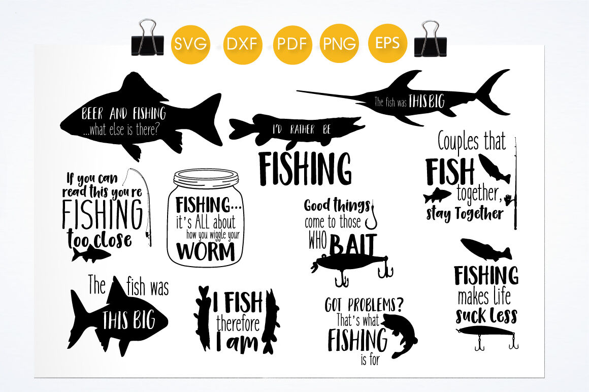 Download Fishing Svg Bundle Cutting Files Svg Dxf Pdf Eps Png By Prettycuttables Thehungryjpeg Com