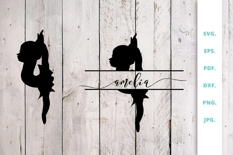 Ballerina Silhouette And Split Monogram Cut File 5 By Sintegra Thehungryjpeg Com
