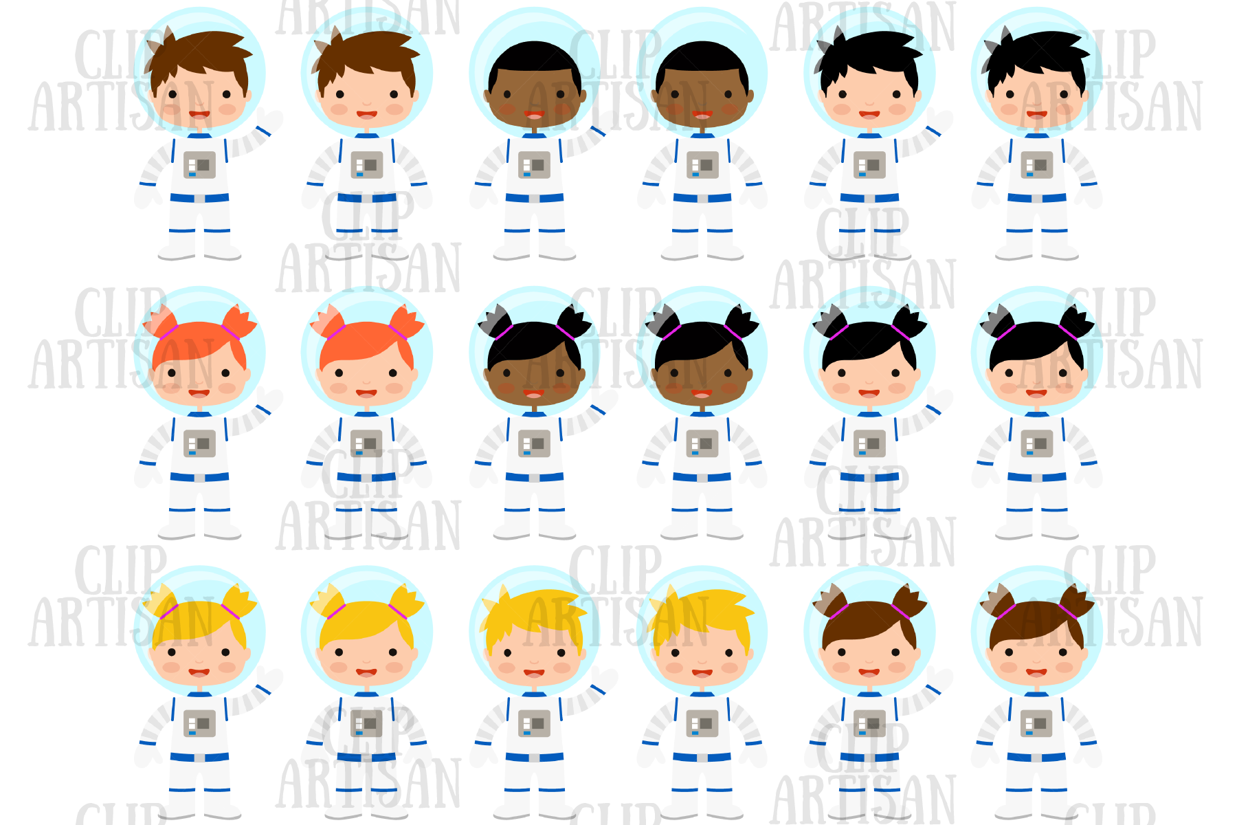 Astronaut Clipart Space Planets Rocket By Clipartisan