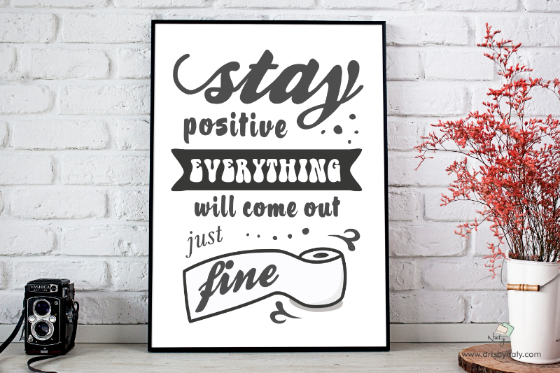 Funny Bathroom Svg Printable Sign By Artsbynaty Thehungryjpeg Com