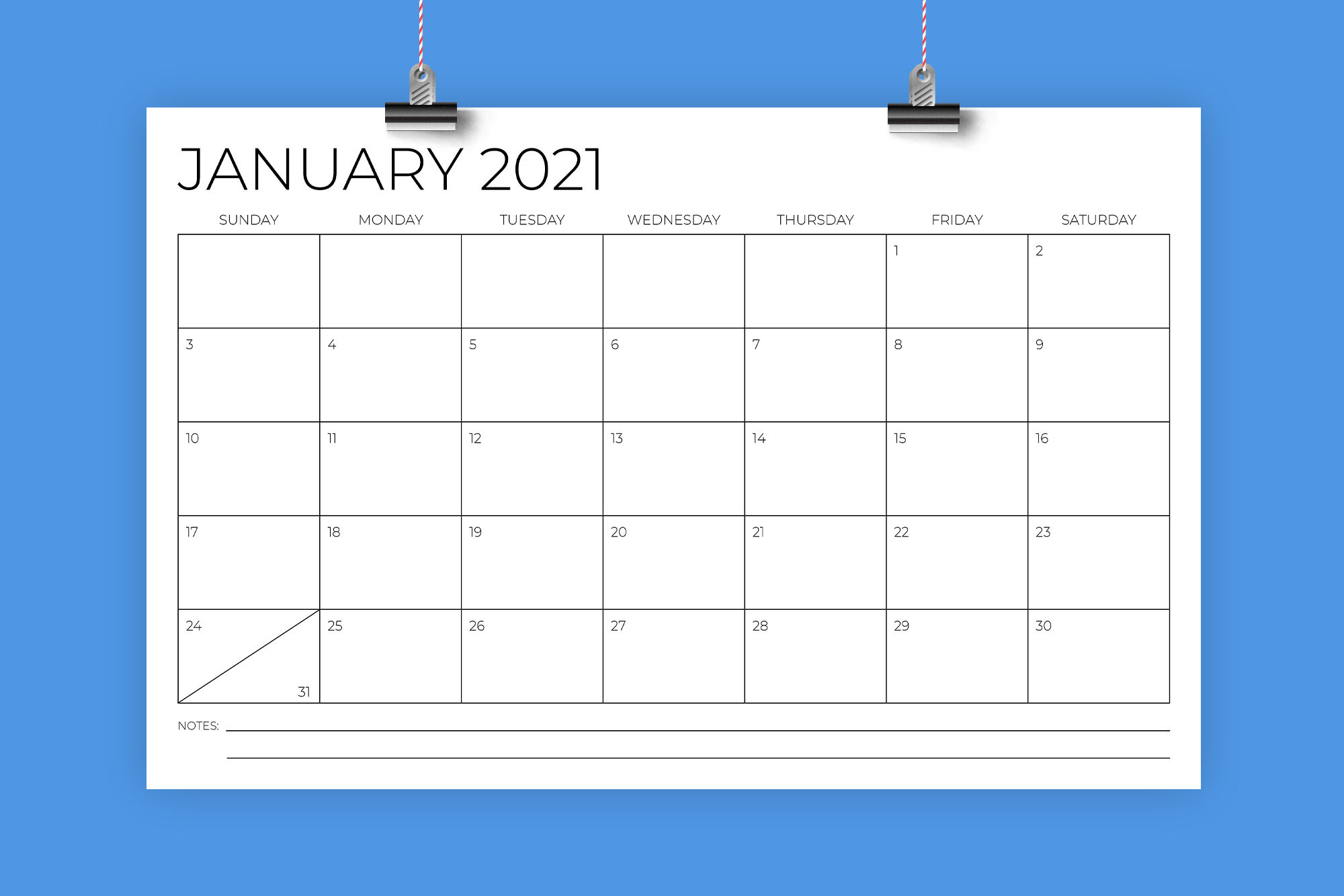 11 x 17 Inch Modern 2021 Calendar By Running With Foxes ...