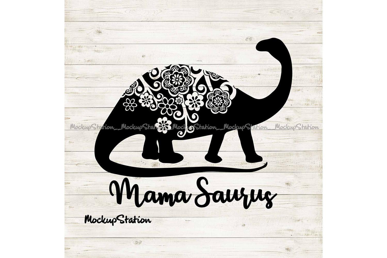 Mama Saurus Mandala Svg Floral Dino Mom Cut File By Mockupstation