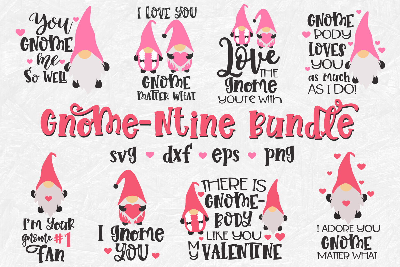Valentine Gnome Svg Valentines Day Svg Bundle Funny Valentines