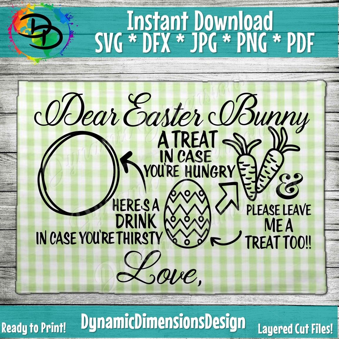 Dear Easter Bunny Tray Svg Carrot For Easter Bunny Carrots For