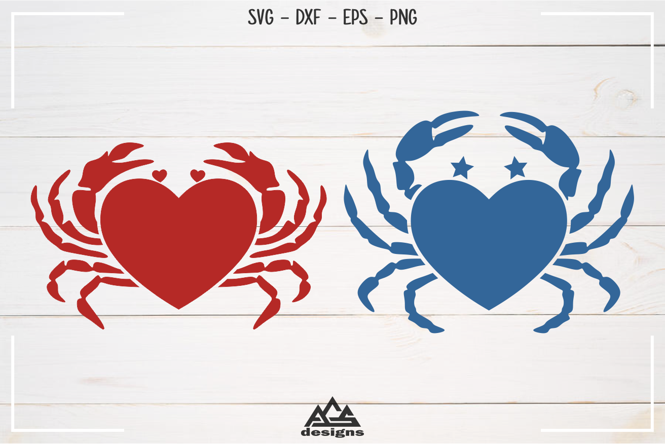 Krab Love Heart Svg Design By Agsdesign Thehungryjpeg Com