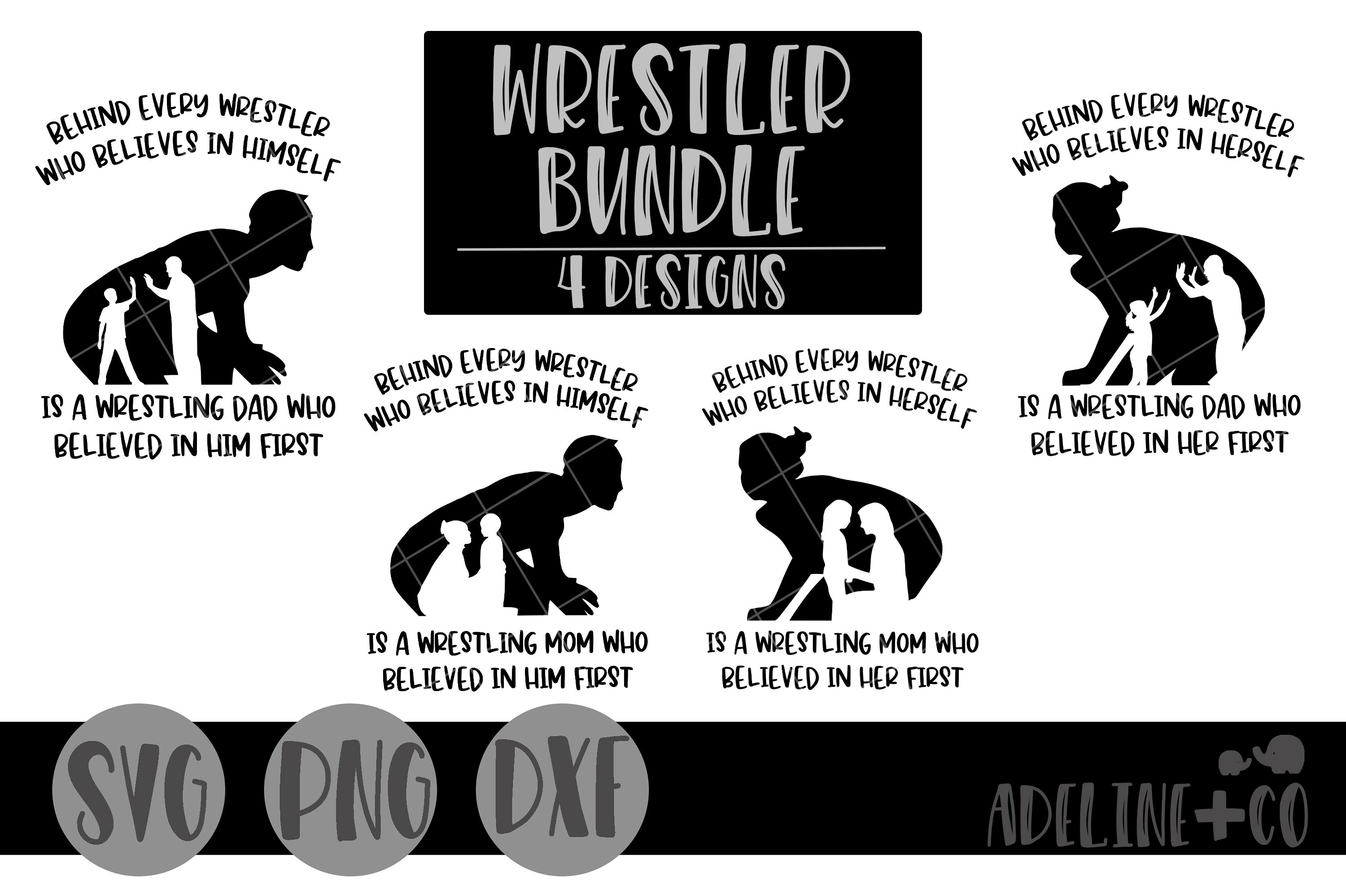 Behind Every Wrestler Svg Png Dxf Mom Dad Boy Girl By