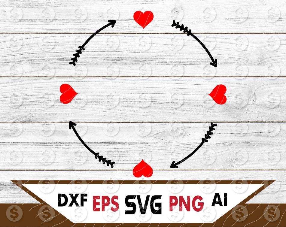 Arrow Heart Monogram Frame Svg Files For Cricut Silhouette Iron On