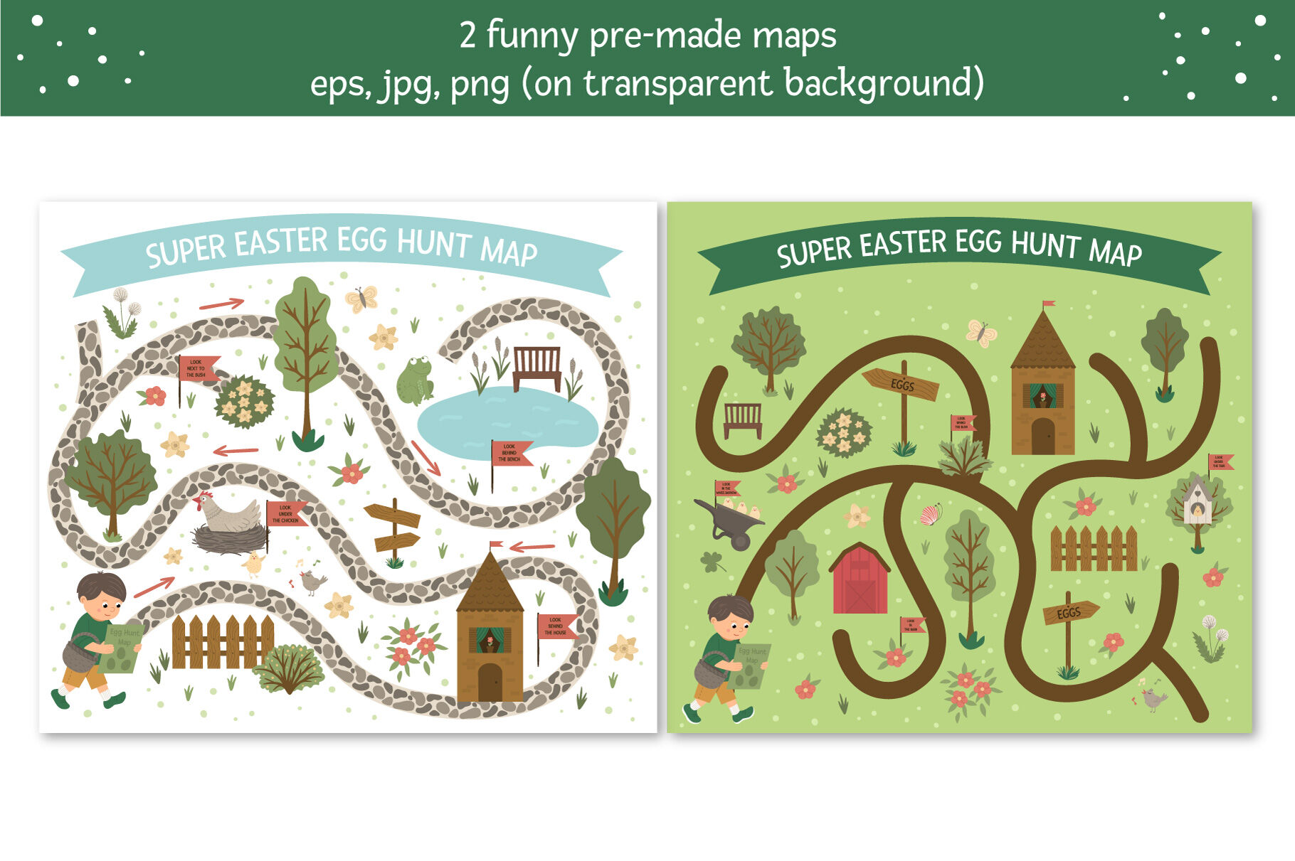 Easter Egg Hunt Map Creator By Lexi Claus Thehungryjpeg Com
