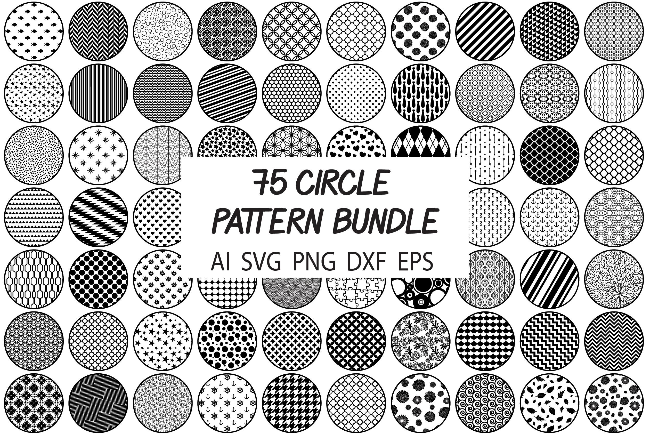 75 Circle Patterns Svg Bundle Background Pattern Svg Cut Files By