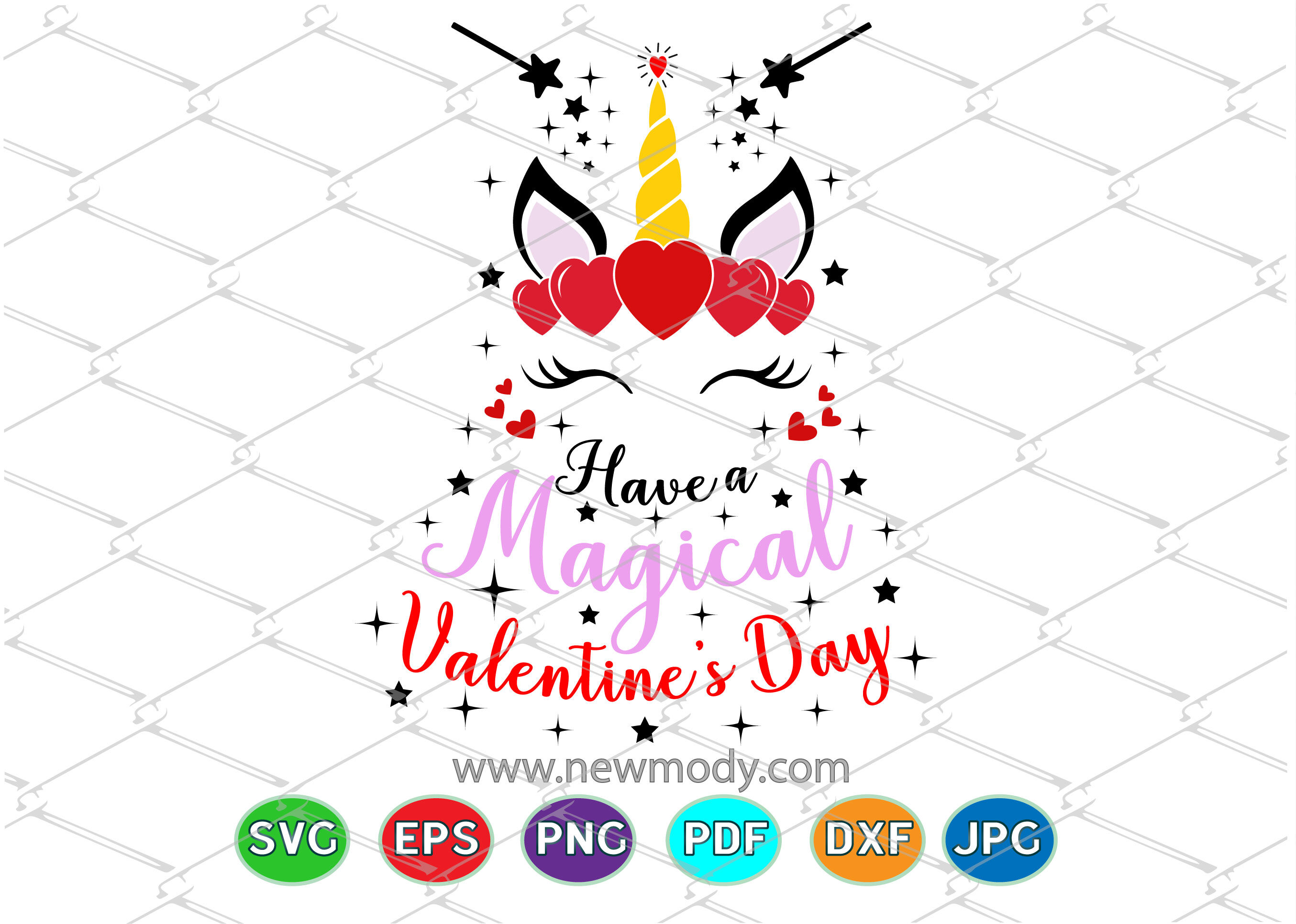 Have A Magical Valentine S Day Svg Unicorn Valentine Svg By