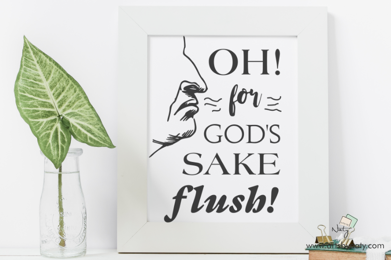 Funny Bathroom Svg Printable Sign Flush By Artsbynaty