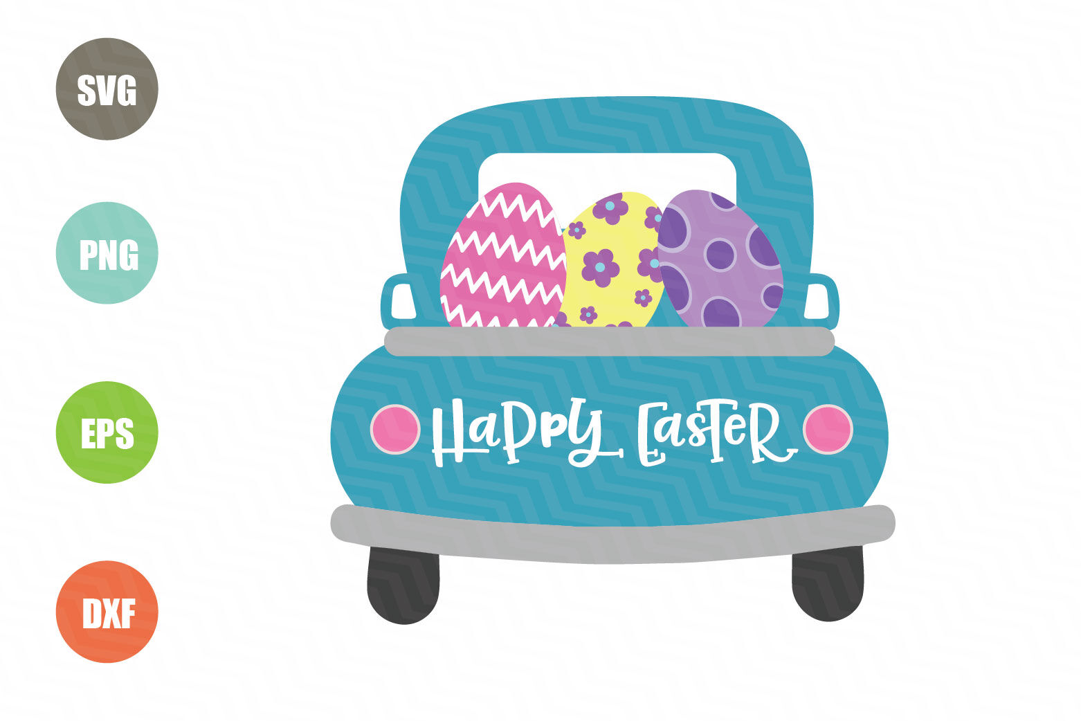 Easter Truck Svg Happy Easter Svg By Newsvgart Thehungryjpeg Com