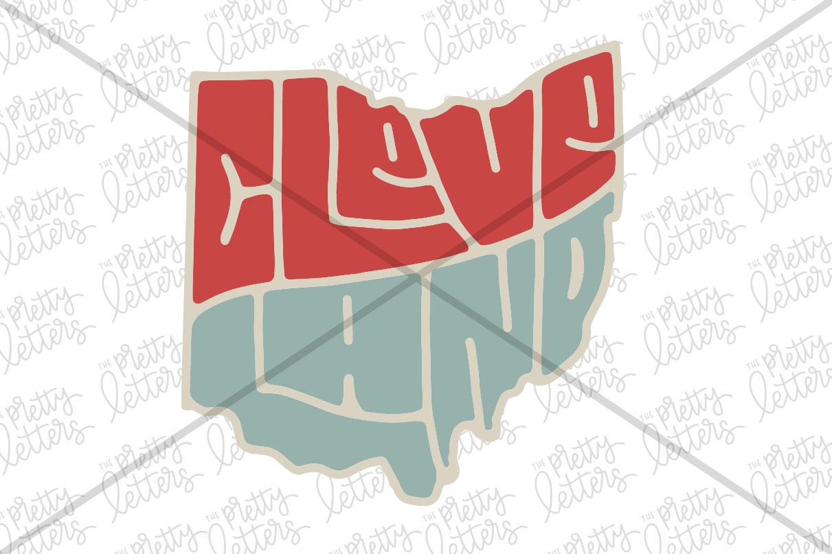 Cleveland Ohio Svg By The Pretty Letters Thehungryjpeg Com