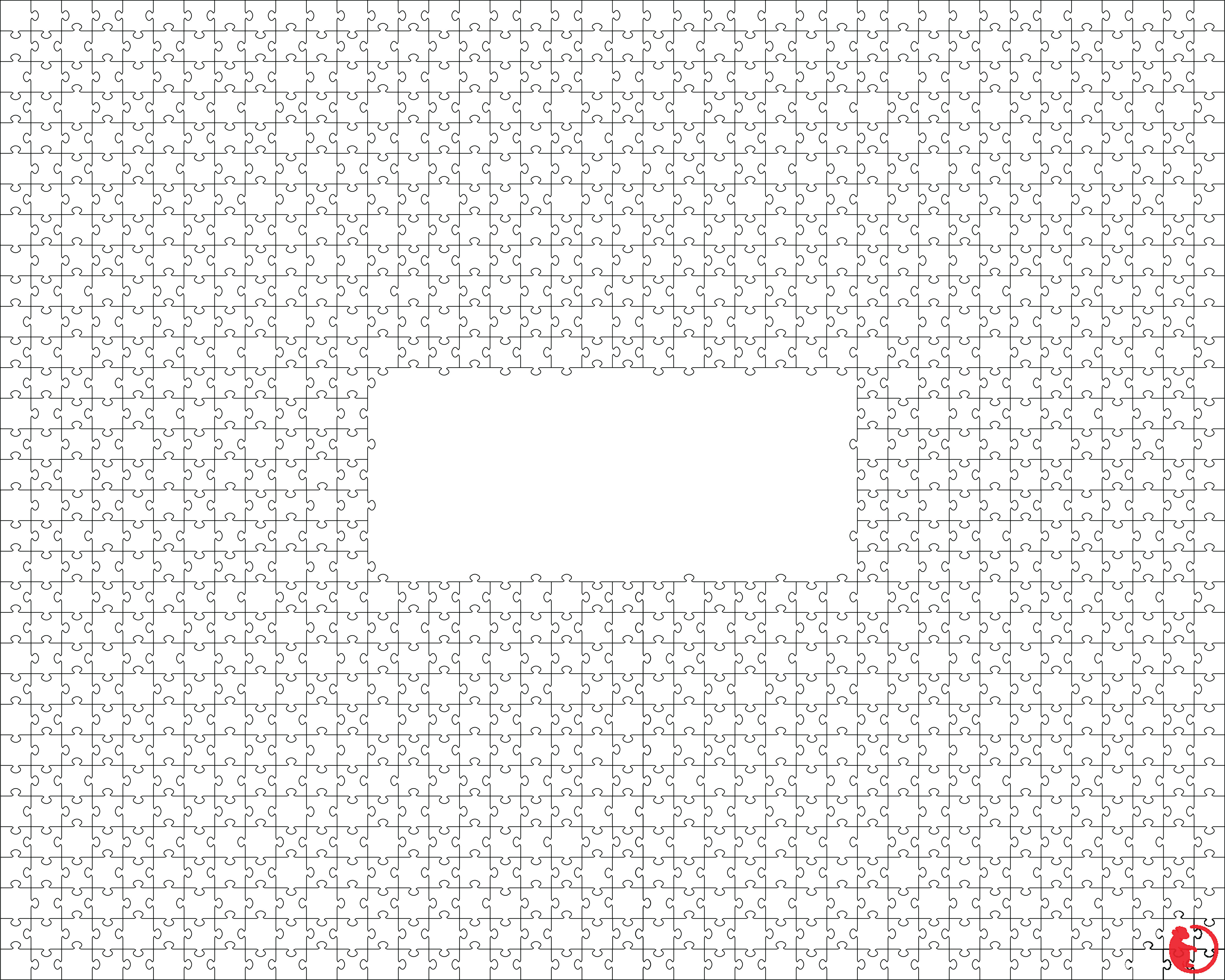 White Puzzle Design Jigsaw Template Svg Dxf Png Eps And Jpg