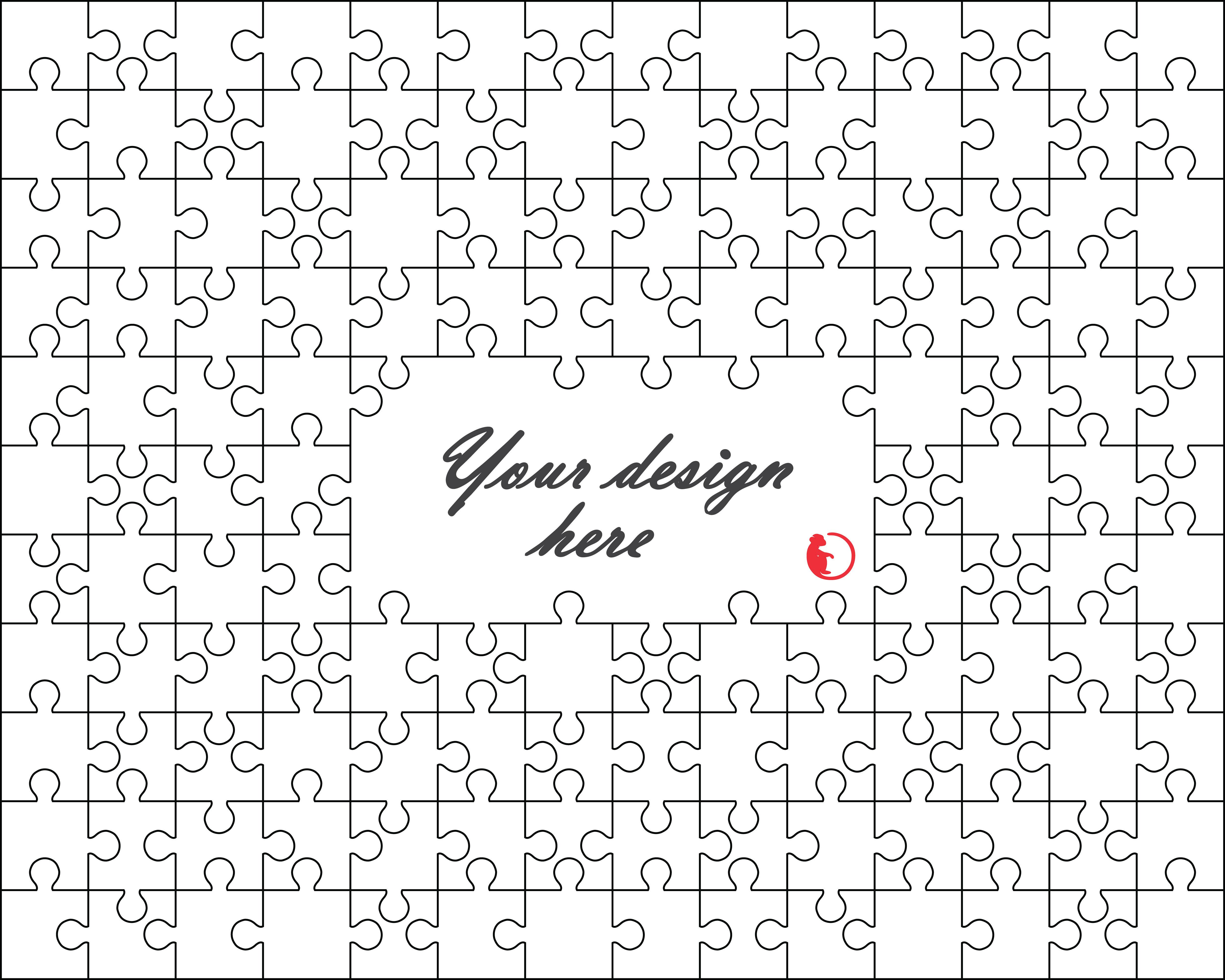 Jigsaw Template White Puzzle Design Instant Download Cricut