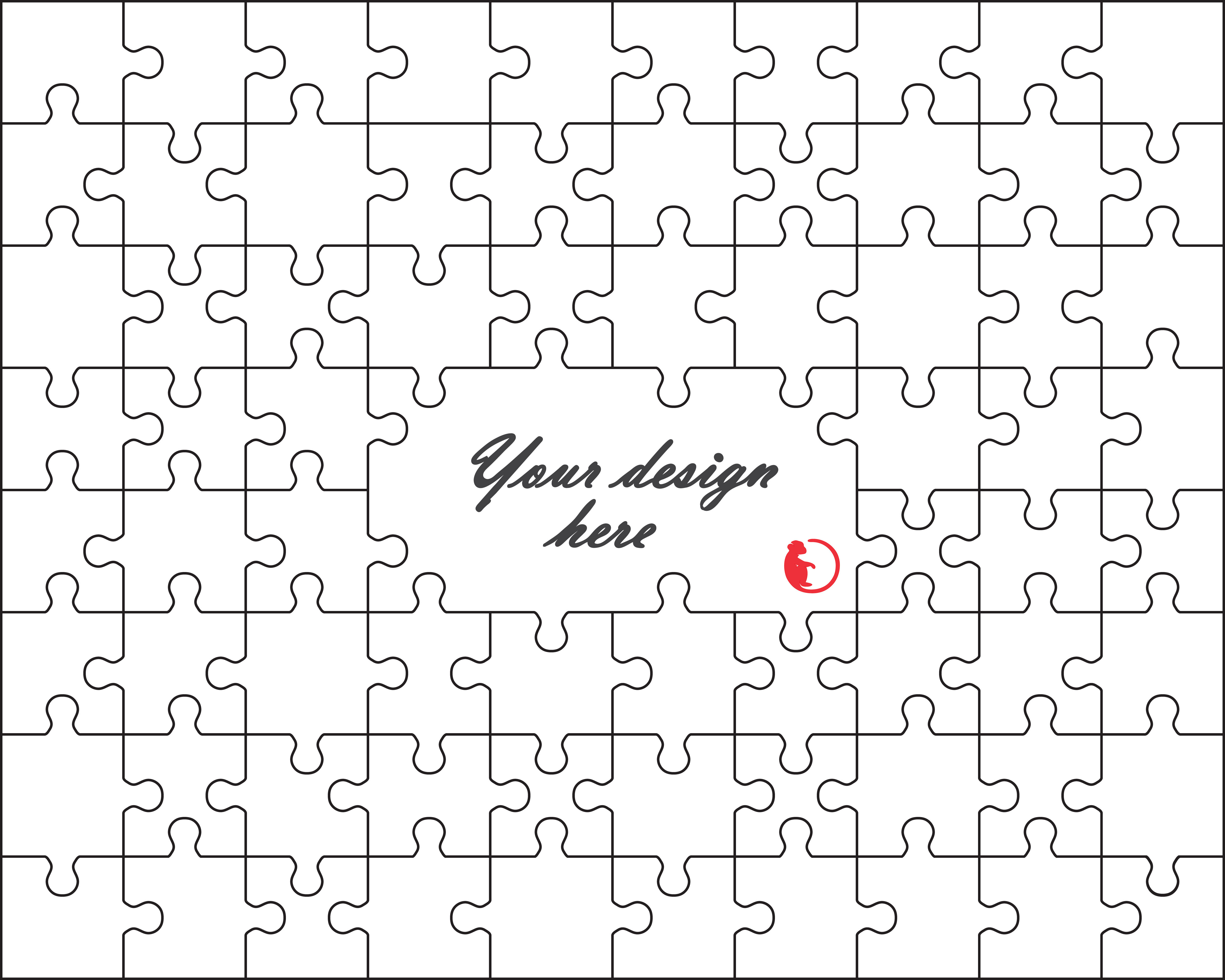 Jigsaw Design White Puzzle Svg Cut File Instant Download By