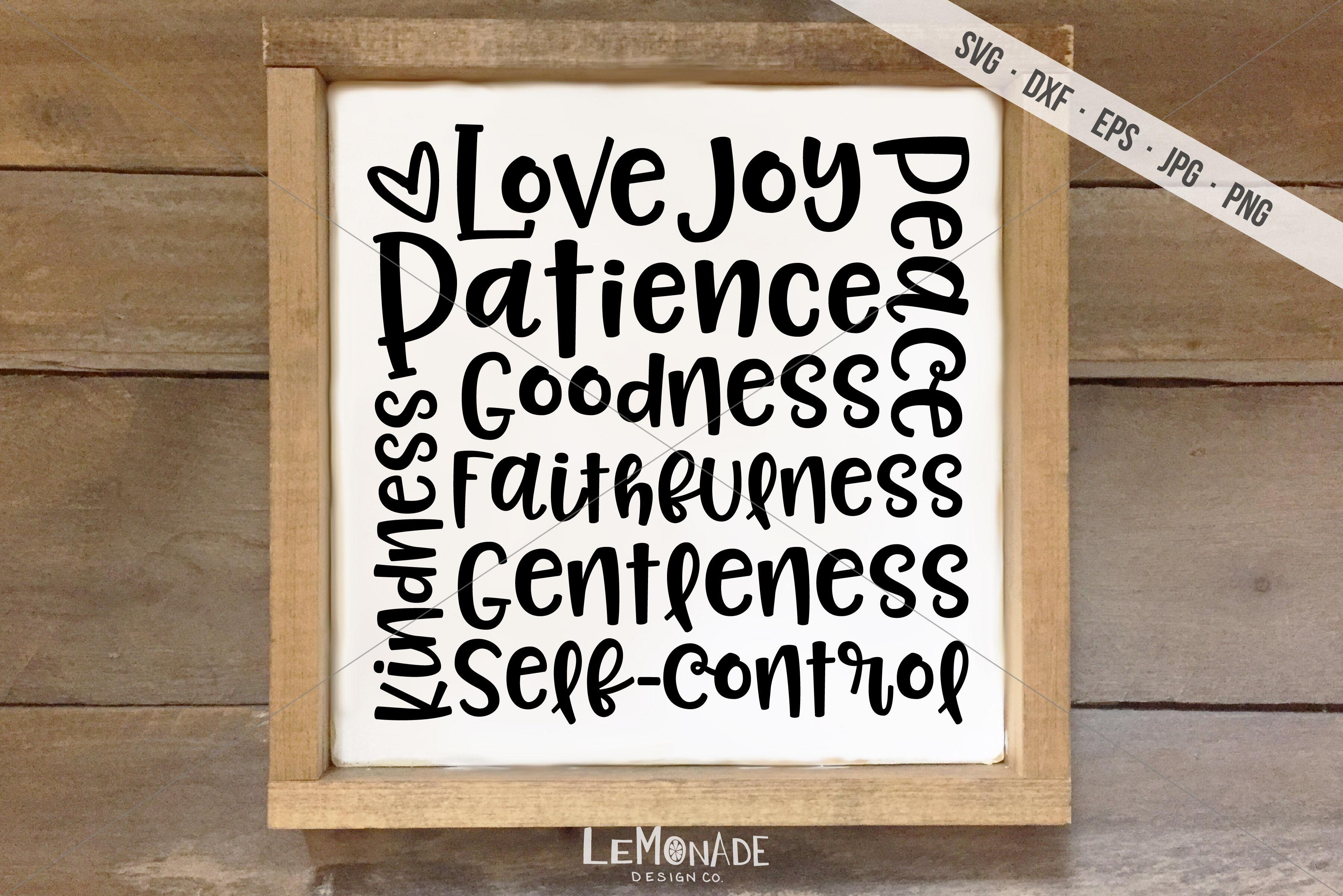 Fruit Of The Spirit Svg Love Joy Peace Svg By Lemonade Design Co