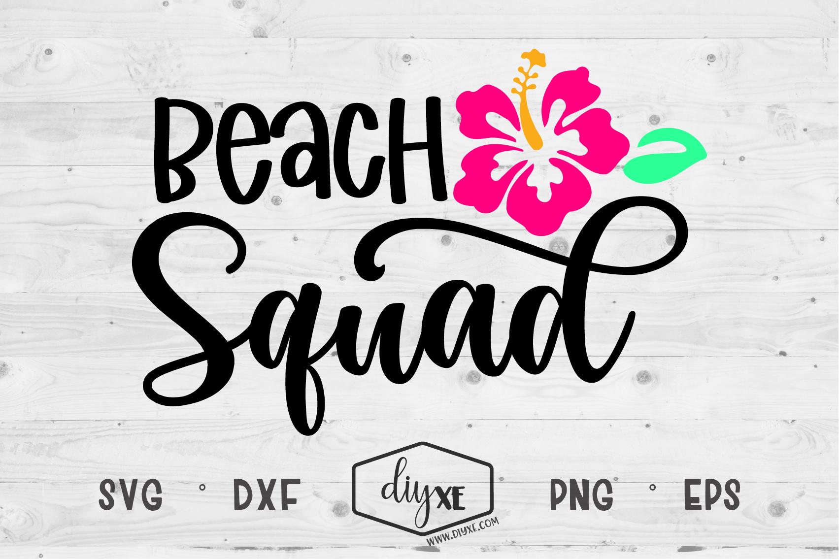 Beach Squad By Diyxe Thehungryjpeg Com