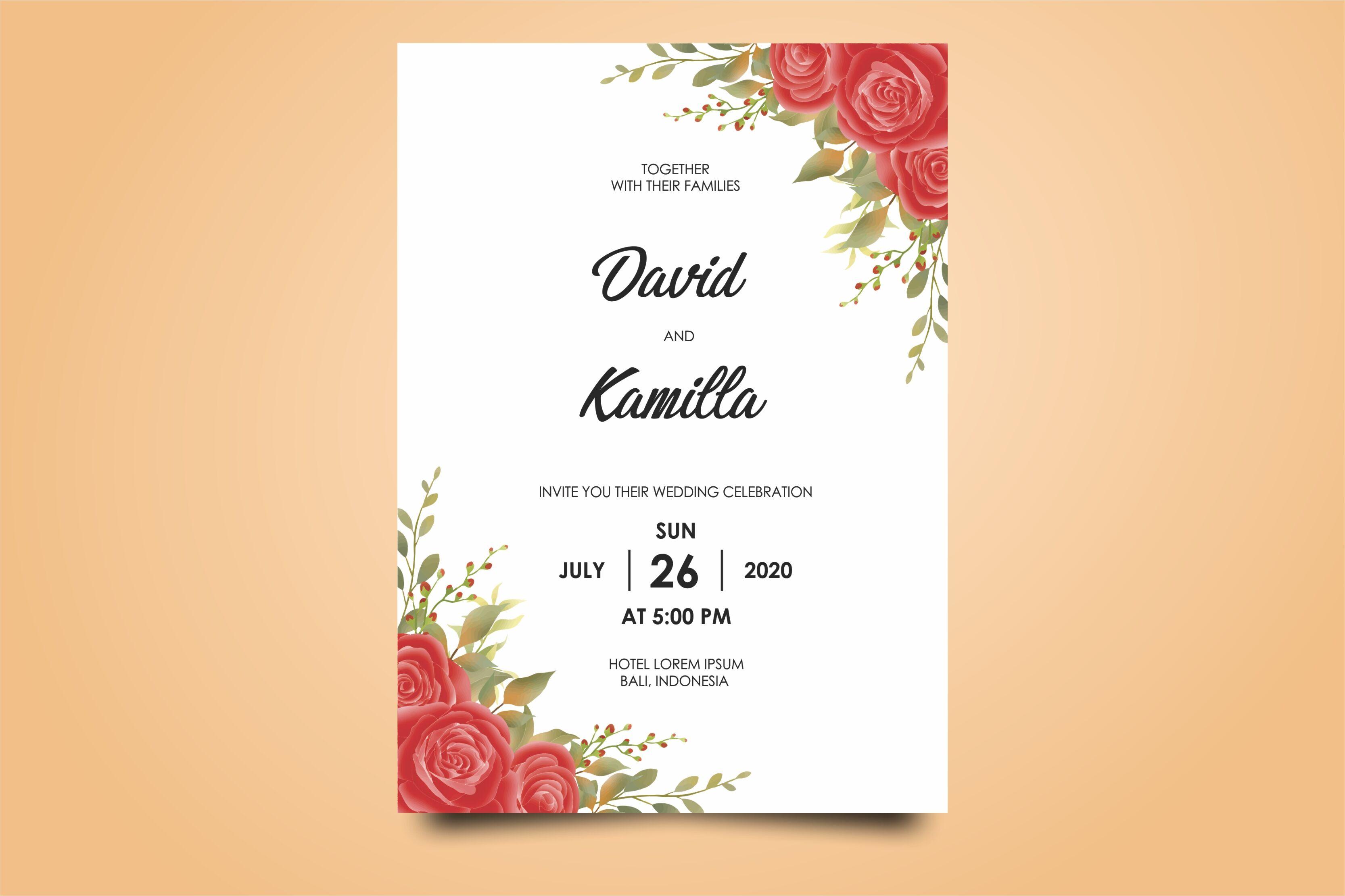 beautiful watercolor wedding invitation card templates