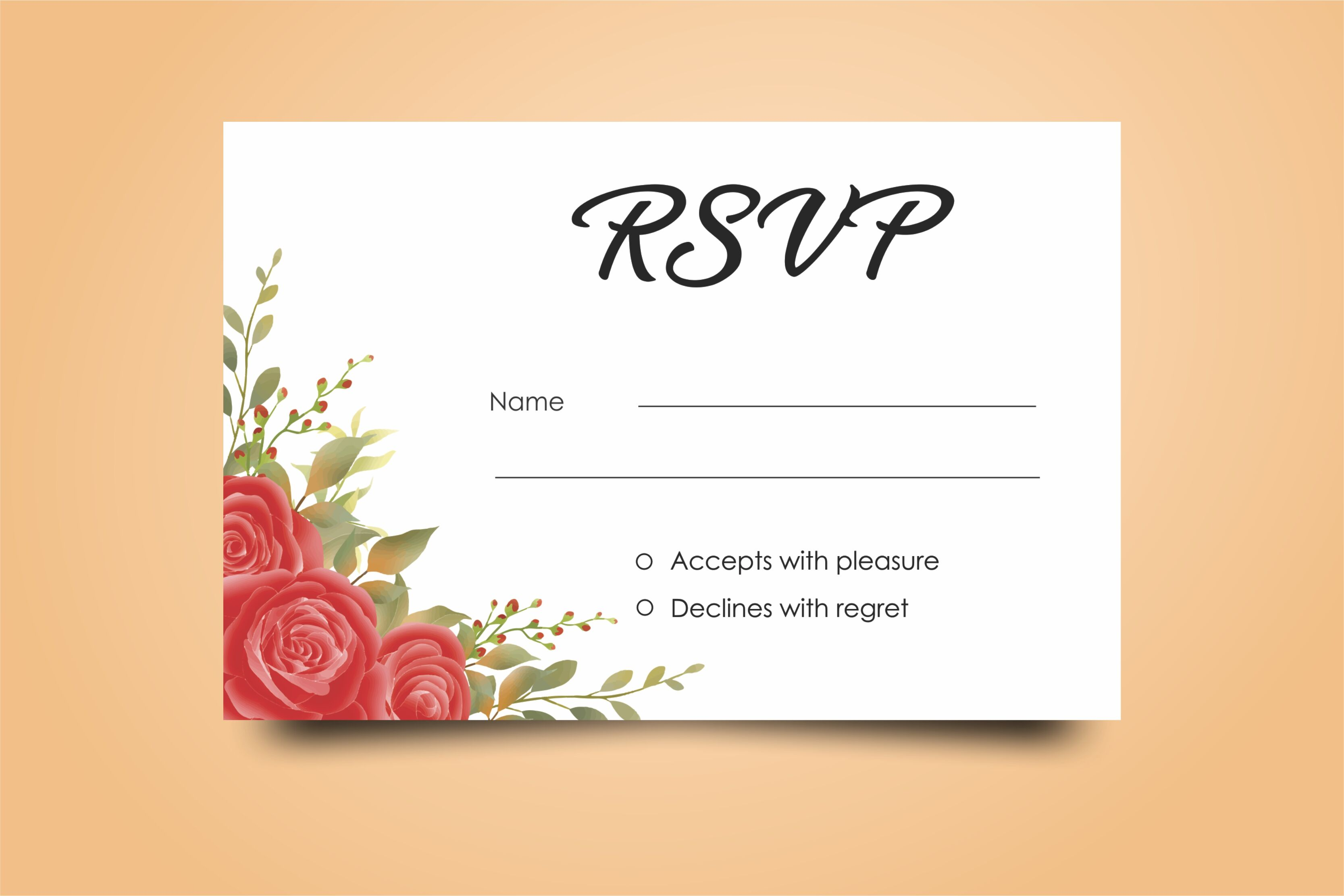 Beautiful Watercolor Wedding Invitation Card Templates By Bintstudio Thehungryjpeg Com