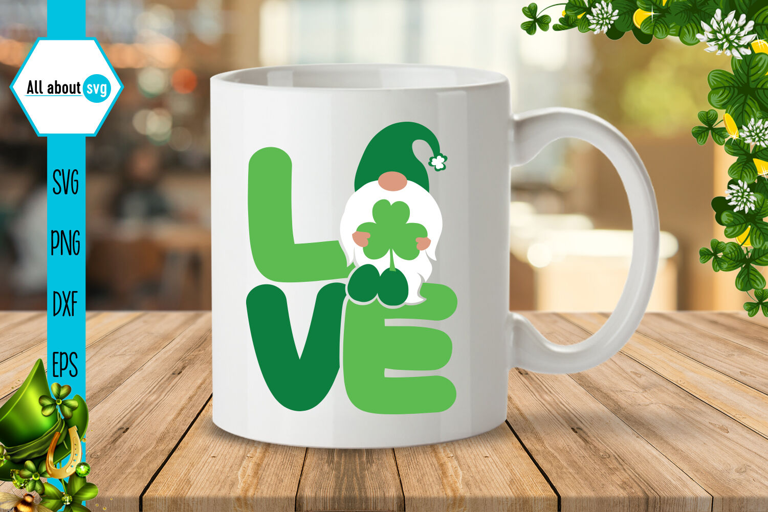 St Patricks Love Gnome Svg By All About Svg Thehungryjpeg Com