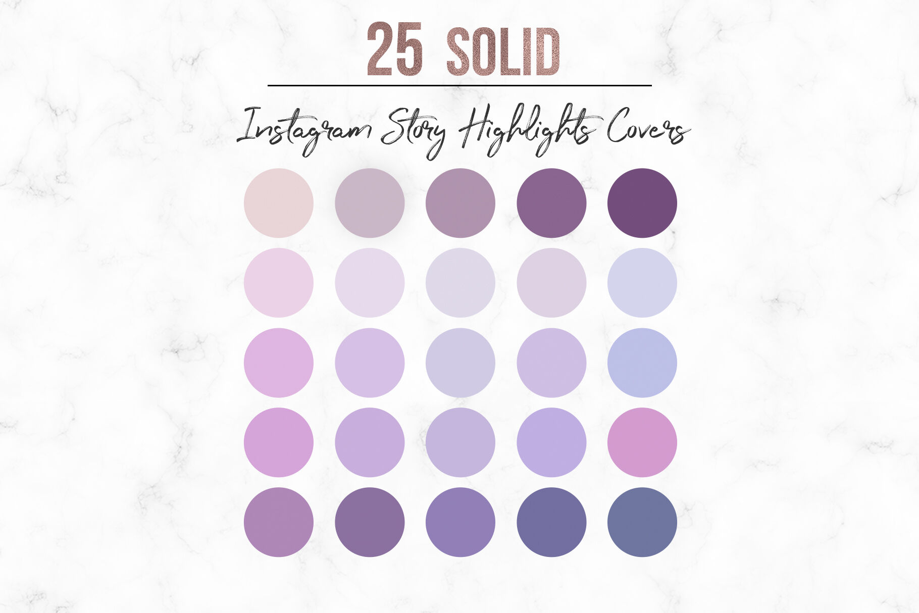 Solid Instagram Highlights Covers By Millaly Thehungryjpeg Com