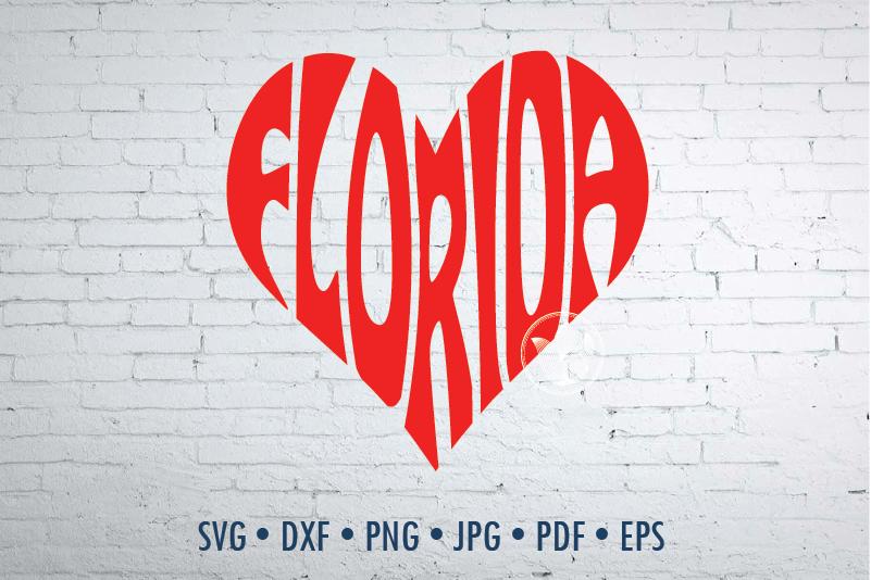 Florida Word Art Svg Dxf Eps Png Jpg Cut File By Prettydd