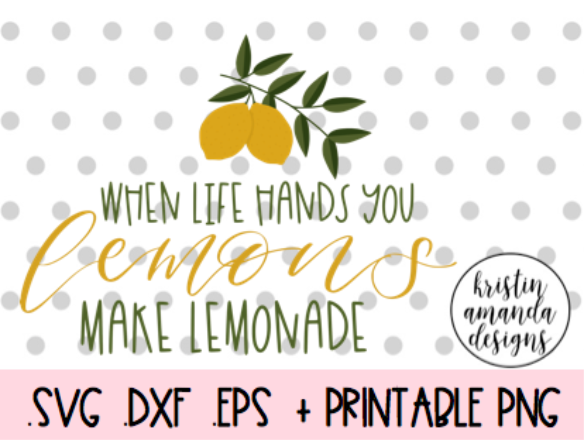 When Life Hands You Lemons Make Lemonade Stand Svg Dxf Eps Png Cut