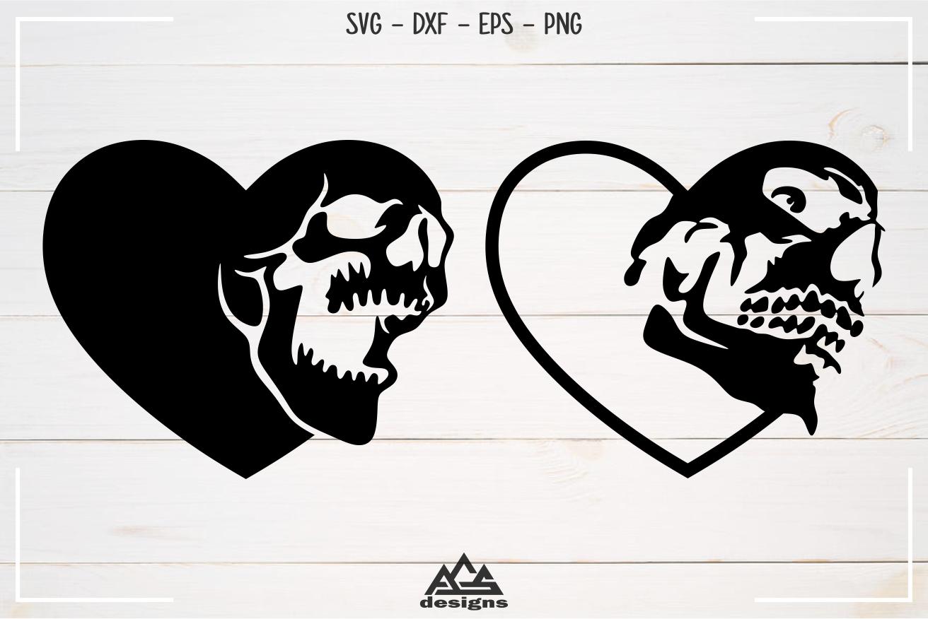 Heart Love Skull Svg Design By Agsdesign Thehungryjpeg Com