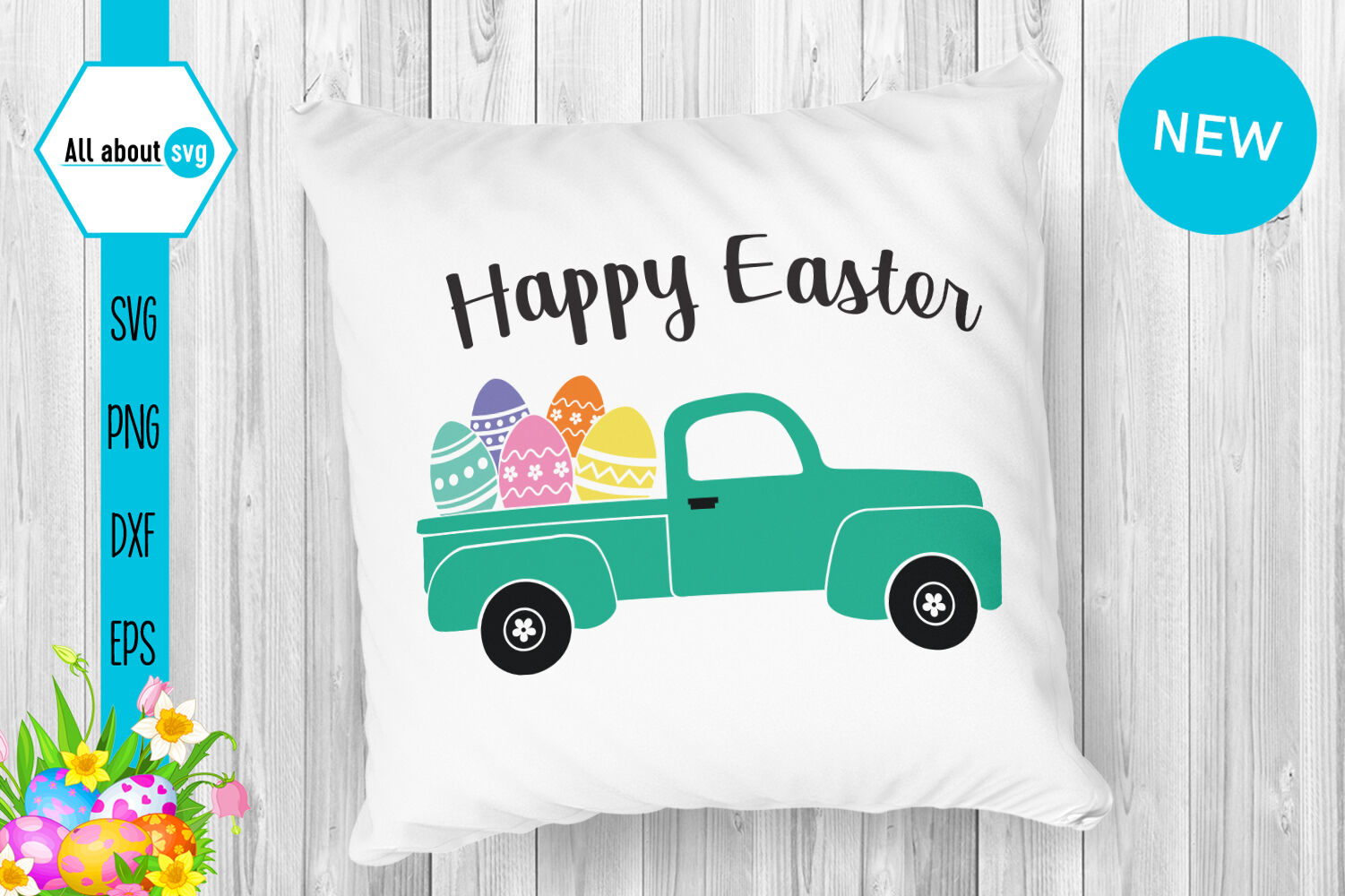 Easter Truck Svg Happy Easter Svg By All About Svg