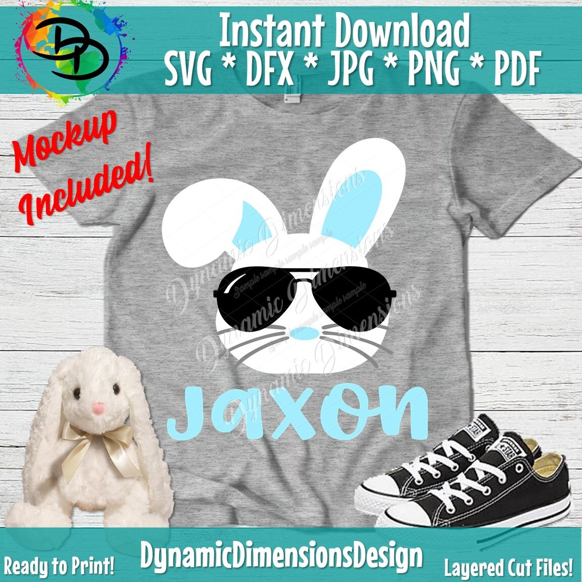 Bunny Svg Easter Svg Boy Girl Cute Easter Bunny Svg Easter Cut