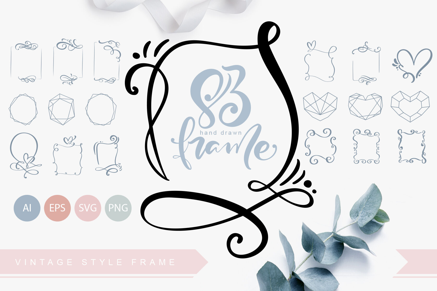Hand Drawn Vintage Svg Frames By Happy Letters Thehungryjpeg Com