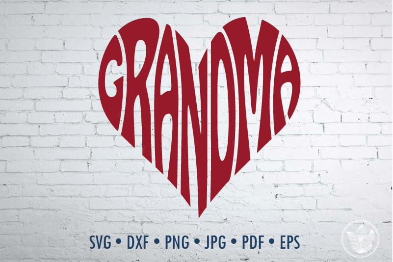 Grandma Word Art Svg Dxf Eps Png Jpg Cut File By Prettydd