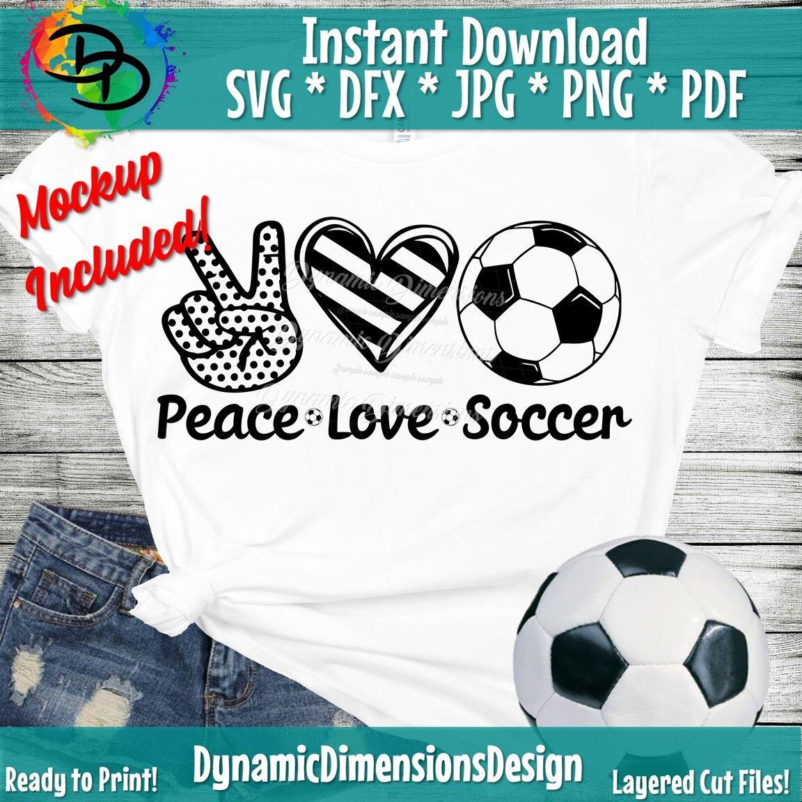 Peace Love Soccer Svg Soccer Png Soccer Shirt Peace Love Svg
