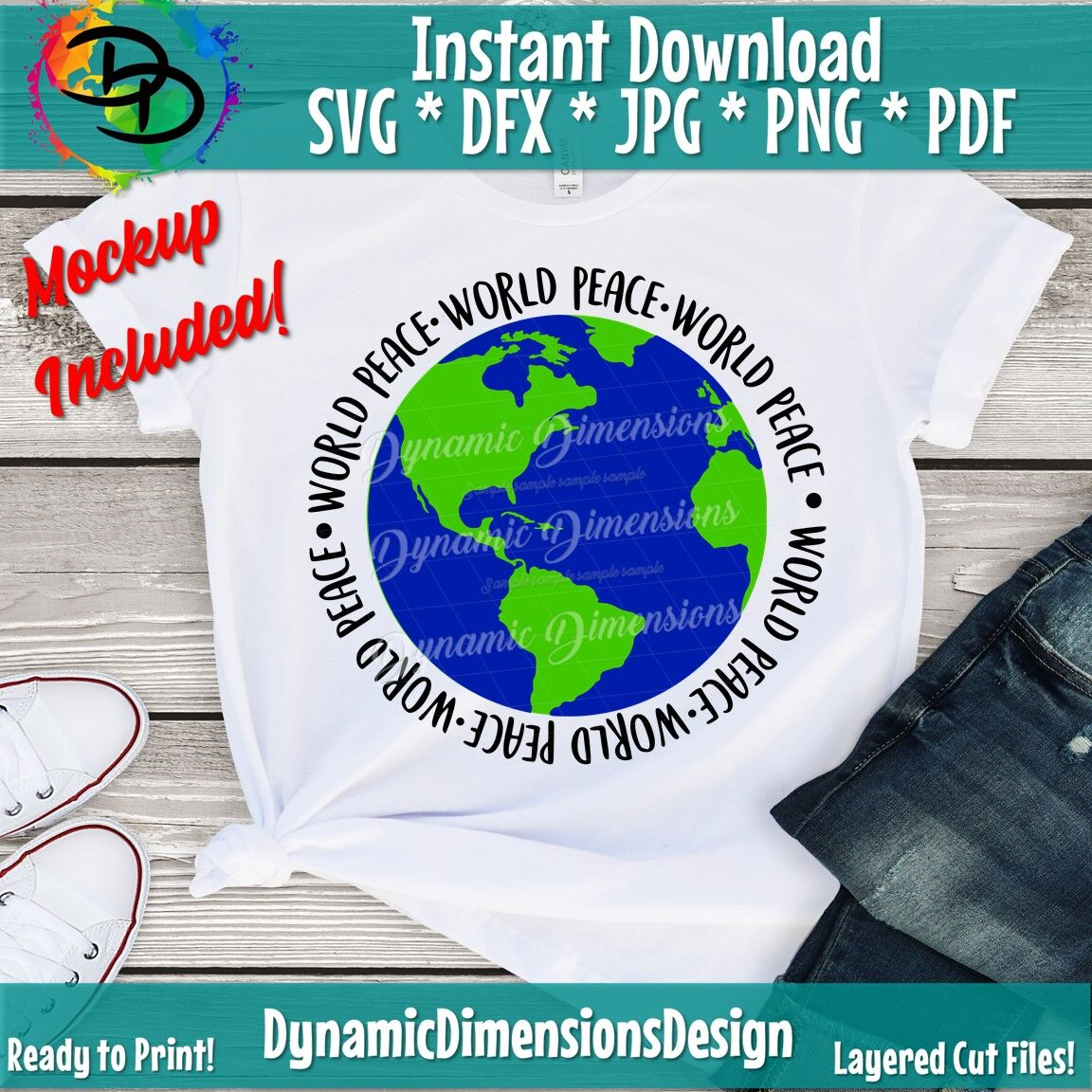 World Peace Svg Peace Love Svg Planet Eart Svg Earth Day Svg