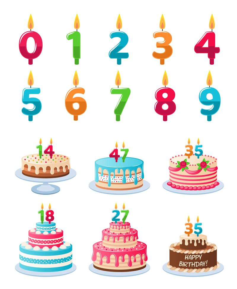 Terrific Cakes With Candle Numbers Anniversary Birthday Cake With Candles Funny Birthday Cards Online Elaedamsfinfo