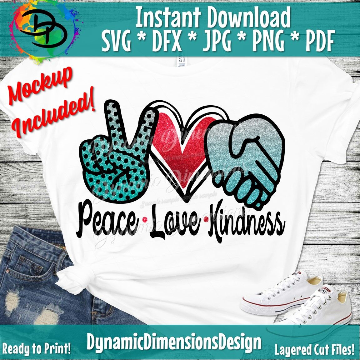 Peace Love Kindness Svg Be Kind Svg Kindness Matters Svg