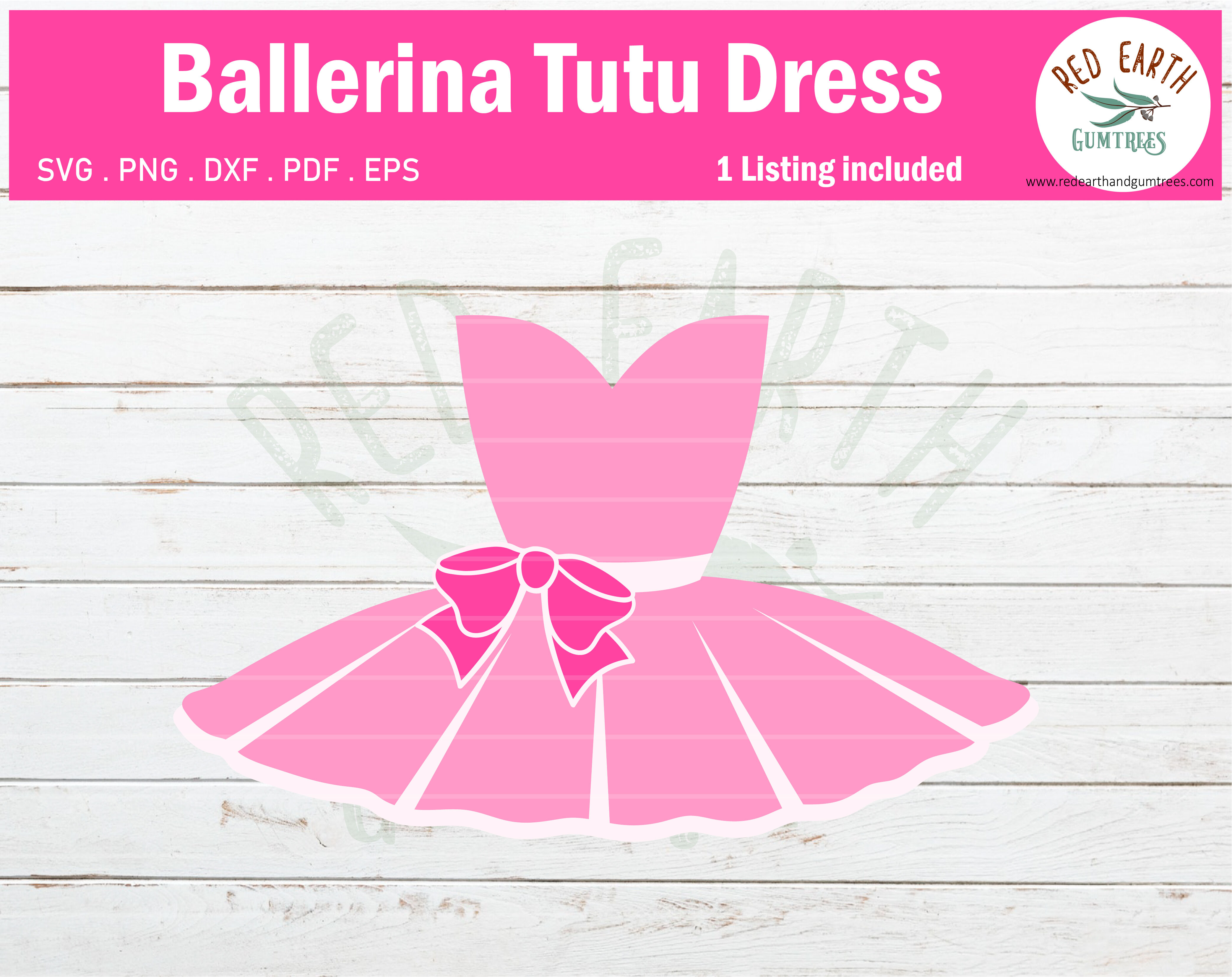 Ballerina Tutu Dress Ballet Tutu Dancing Dress Svg Png Dxf Pdf