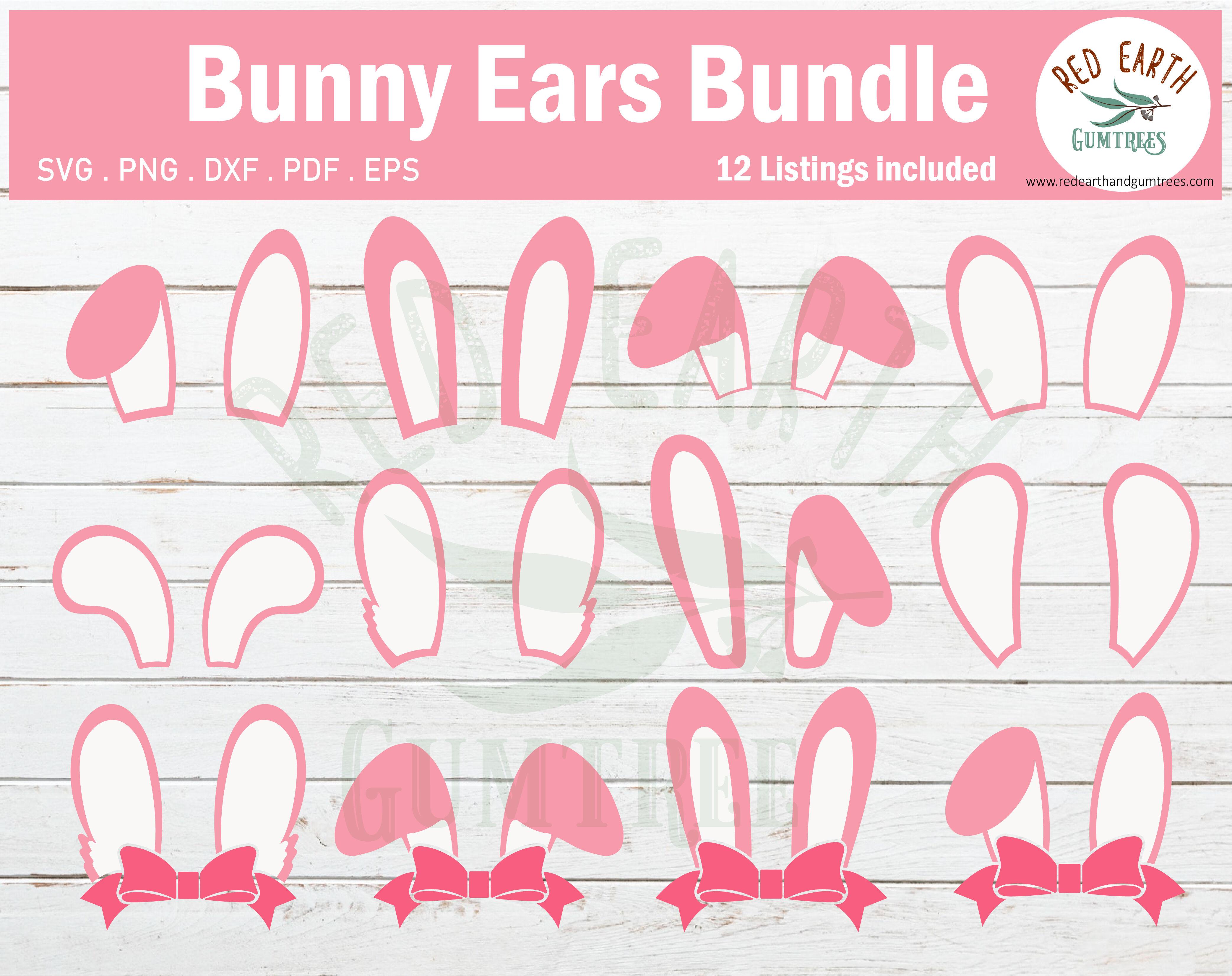 Easter Bunny Ears Bundle Svg Easter Rabbit Ears Bundle Svg Eps Pdf