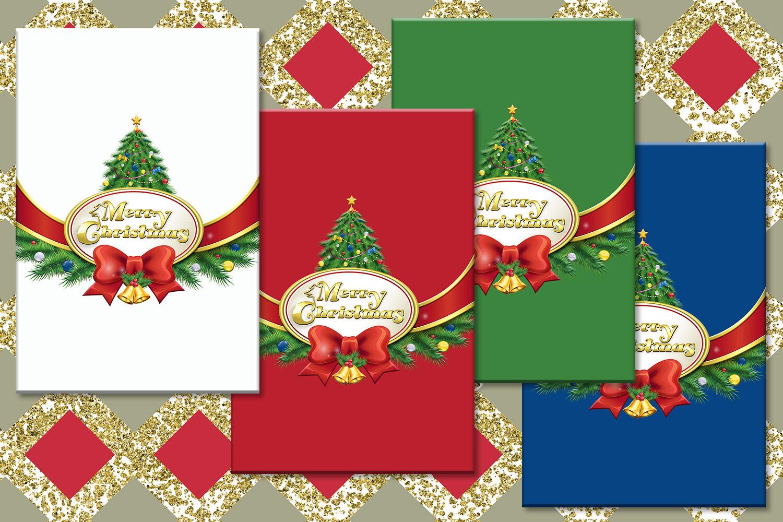 Christmas Digital Printable Downloadable Christmas Cards By