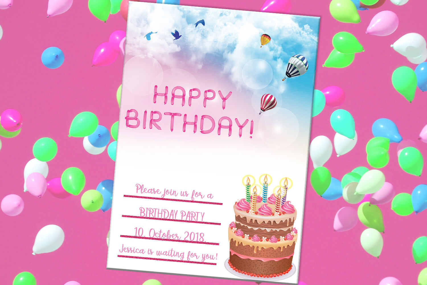 Astonishing Happy Birthday Card Party Card Digital Download By Funny Birthday Cards Online Elaedamsfinfo