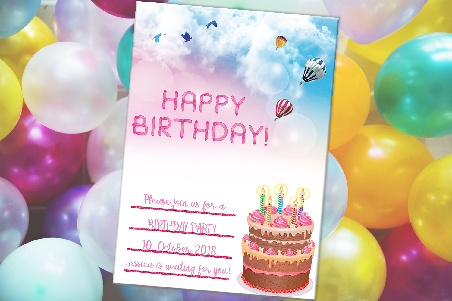 Wondrous Happy Birthday Card Party Card Digital Download By Funny Birthday Cards Online Elaedamsfinfo