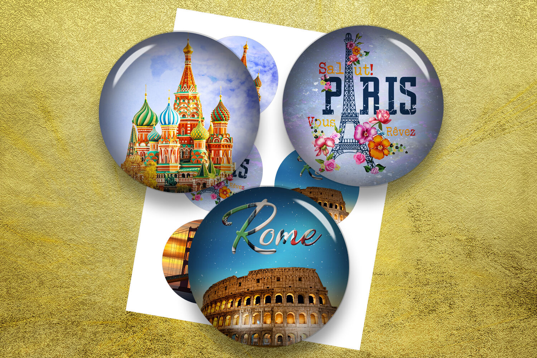 Metropolises Travel Moscow New York Paris Rome By